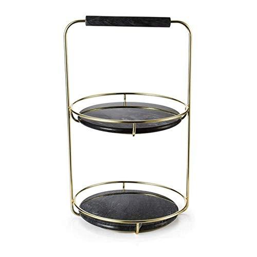 ROSG Caja de Maquillaje Bandeja de Almacenamiento de mármol Adornos de Mesa Estante de joyería para el hogar Sala de Estar Multiusos Dormitorio Delicado Hermoso