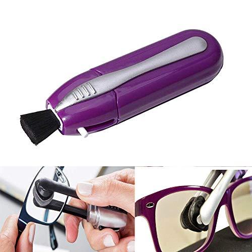 Han.T Brillenreinigungsgerät für Unterwegs,Brillenreiniger Gerät (Lila)