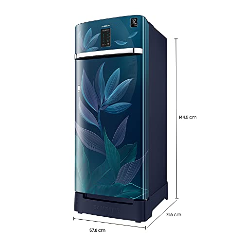 Samsung 225 L 4 Star Inverter Direct Cool Single Door Refrigerator(RR23A2F3X9U/HL, Paradise Blue, Base Stand with Drawer, Digi-Touch Cool) 6