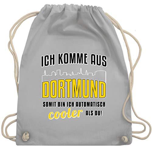 Städte - Ich komme aus Dortmund - Unisize - Hellgrau - turnbeutel dortmund - WM110 - Turnbeutel und Stoffbeutel aus Baumwolle