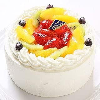 卵不使用ケーキ フレッシュフルーツ乗せフレッシュ生クリームのショートケーキ 6号 18cm