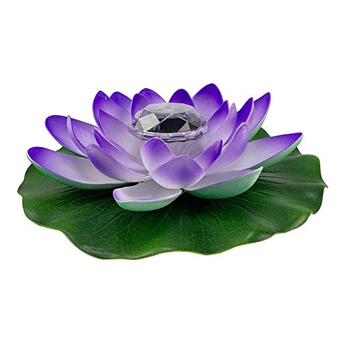æ— LED impermeable flotante Lotus luz solar Lotus lámpara funciona con pilas que cambia de color lirio flor luz flor noche lámpara piscina jardín pecera boda decoración