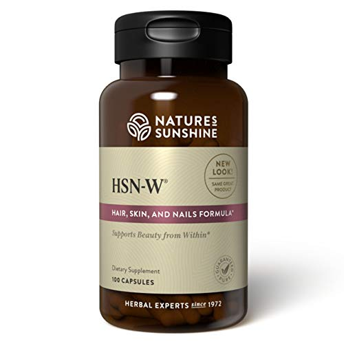Nature's Sunshine HSN-W, 100 Capsules, Kosher | Our Unique Herbal Formula HSN-W Enhances Skin Tone and Helps to Nourish and Strengthen Hair, Skin and Nails