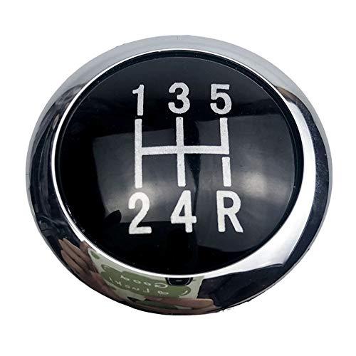 LYSHUI 5/6 Velocidad Negro Accesorios para automóviles Perilla de Cambio de Marchas Emblema Insignia Embellecedor Tapa Superior, para Vauxhall Opel Astra III H Corsa D 2004-2010
