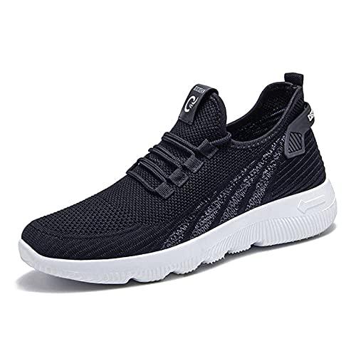 HMJPN Breathable Non-Slip wear-Resistant Outdoor Hiking Men's Sports Shoes (Color : Negro, Shoe Size : 44 EU)