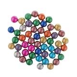 90 piezas de 16 mm de color mezclado canicas multicolores canicas de vidrio bolas de vidrio