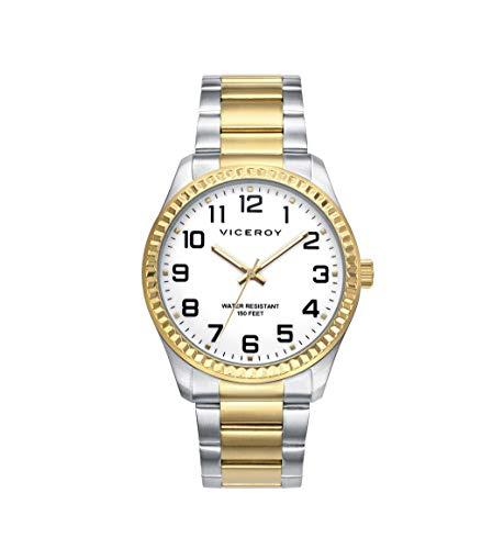 Viceroy Reloj Analógico para Hombre de Cuarzo con Correa en Acero Inoxidable 40525-94