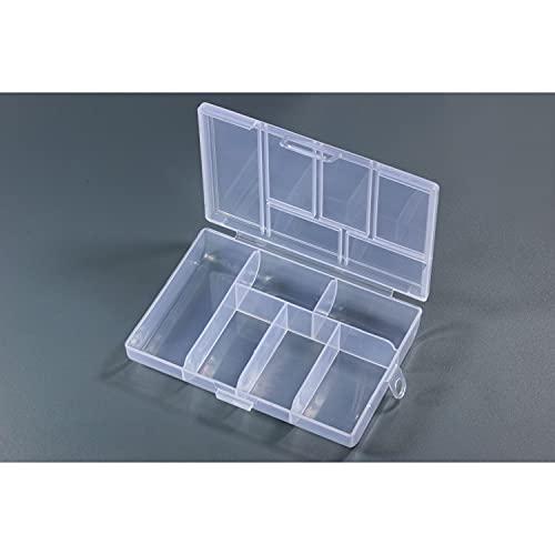 Inwaria BB-10/8-5st - Caja clasificadora transparente (6 compartimentos, 5 unidades)