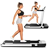 ANCHEER 2in1 Folding Treadmills for Home,2.25HP Electric Under Desk Treadmill Workout with Remote&APP Control,LED Display,Indoor Walking Jogging Running Exercise Machine Installation-Free