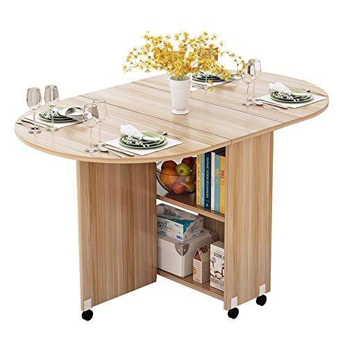 XIAOYAN Mesa Plegable con Ruedas Mesa de Comedor Redonda Simple La Mesa Mahjong Tiene Capacidad para...