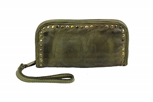 BZNA Berlin Romy grün verde Wallet sheep Leather Leder Portemonnaie Geldbörse Neu