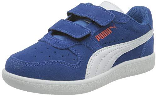 Puma Unisex-Kinder ICRA Trainer SD V PS Sneaker, Star Sapphire Weiß Mohnrot, 29 EU