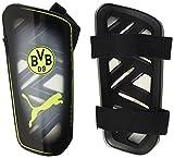 PUMA BVB Ultra Light Strap Guard Shinguards, Unisex-Adult, Black-Safety Yellow, M