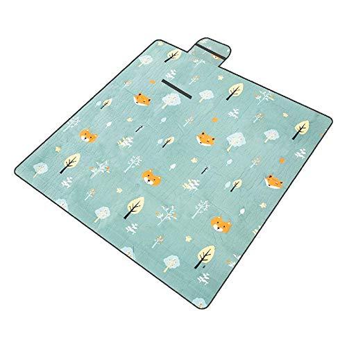 N\C Picnic Pad 2Picnic Blanket Impermeable Grande Exterior Impermeable Respaldo Impermeable Alfombra de Picnic Alfombra de Playa Lavable con asa para Acampar Senderismotravelling Grass Beach Plegable