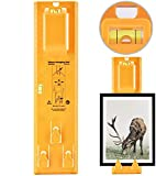 Picture Hanging Level Ruler Tool,FW ZONE Picture Frame Hanger DIY Measuring Tool Multifunction Level Ruler Bubble Level Measuring Tool for Photo Frames,Clocks, Artwork, Wall Coverings