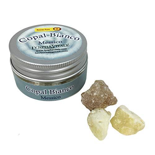 Incienso Copal blanco - Resina natural 15 gr - Resina fresca de calidad chamánica para sublimador...