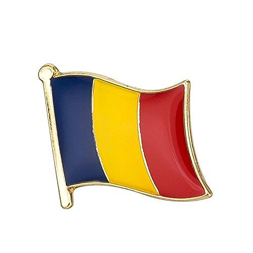 Patch Nation Roemenië Roemeense Vlag Metalen Pin Badge