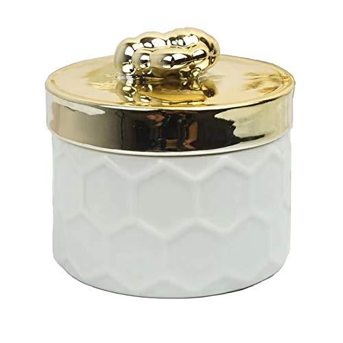 qddan Caja de joyería de Viaje Organizador Joyería de cerámica Estuche de Almacenamiento para Anillos Pendientes Collar Joyería Regalo Caja de Regalo Mujeres Mujeres Regalo