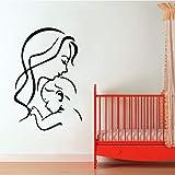 yaofale Mamá y niño niño habitación Pared Pegatina Vinilo Impermeable decoración del hogar Sala de Estar Dormitorio Pared Arte calcomanía