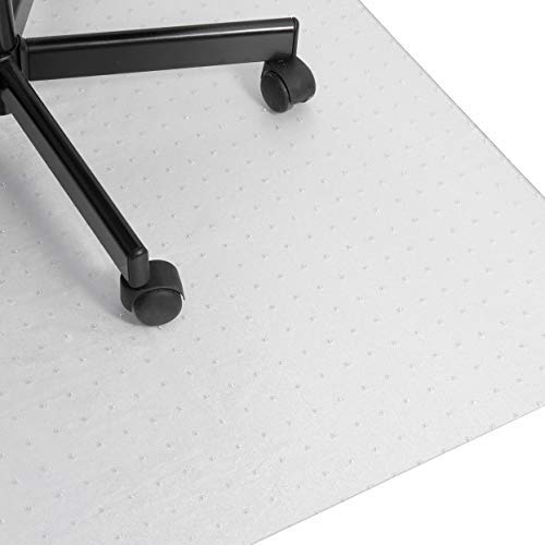 buySMILE ® | Bodenschutzmatte CLEARMAT+ Bürostuhlunterlage transparent | 100{6c98aba41f5e0edb88472b9ec64a4efa926bededd5a87a82f016c3b77407c549} Polycarbonat wie Makrolonin 5 Größen für Teppichböden, Flokati, Sisal |Made in Germany (74 x 120 cm)