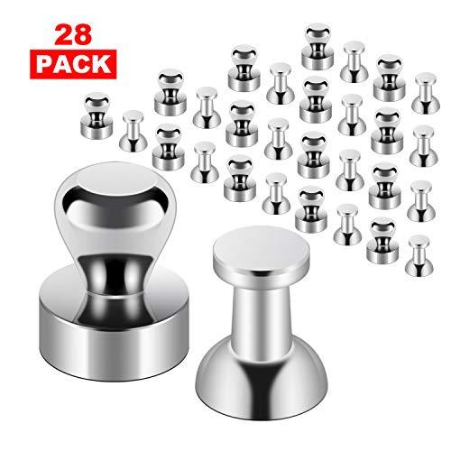 GEHUAY Mini Magnete Stark Set - 28 Stück Metall Magneten Neodym Magnete Eextrem Stark - Neodym Magnete für Magnettafel, Whiteboard, Pinnwand- mit Aufbewahrungs Box