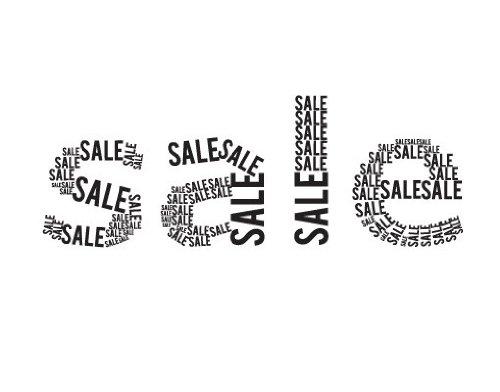 Fenstertattoo No.JO47 Typographic Sale Verkauf Schaufenster Ausverkauf | Glasdekorfolie selbstklebend Milchglasfolie 5 Farben Fensterfolie Klebefolie Glasdekorfolie Sichtschutz Blickschutz Milchglas Fenster Bad Farbe: Frosted; Größe: 122cm x 338cm