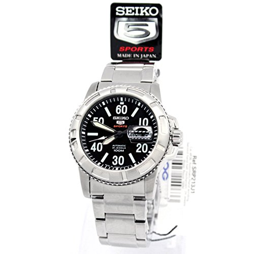 SEIKO 5 Sport SRP213J1 Military Black Uhr Automatic Herren Automatik