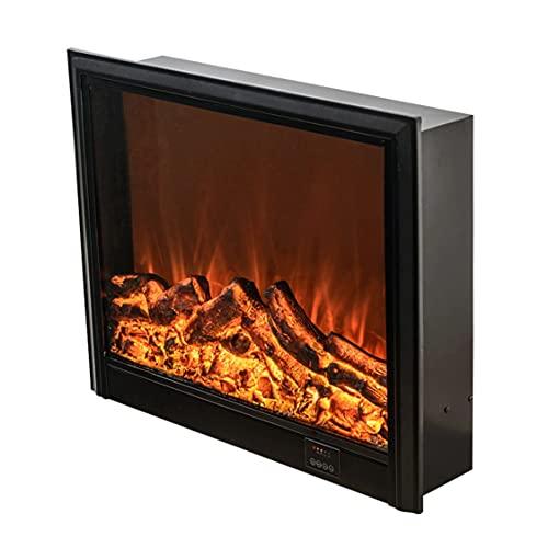 Chimeneas eléctricas decorativas para el hogar con núcleo de chimenea y simulación de fuego, montaje en pared y empotrado calentador de chimenea para casa con control remoto
