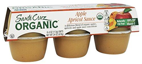 Santa Cruz Organic - Organic Apple Sauce Cups Apricot - 24 oz. (Pack of 2)