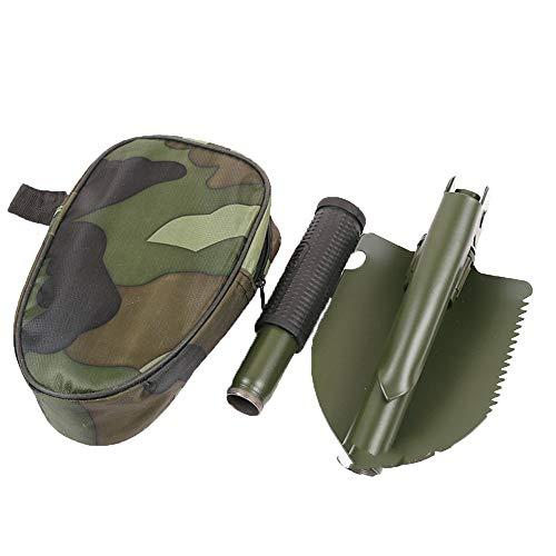 FairytaleMM Gartengeräte Mini-Militär Tragbare Klappschaufel Überleben Spaten Notkelle Für Outdoor Camping Werkzeug (Armee grün)