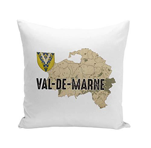 Fabulous Coussin 40x40 cm Val de Marne 94 Département Créteil Carte Ile de France