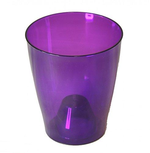 Fuchs seit 1895 Orchideen Übertopf transparent 13cm, Farbe:violett