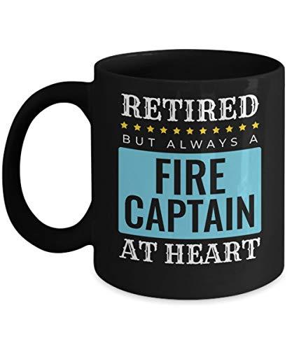 Taza de café de capitán de bomberos jubilado Regalo de jubilación de bombero