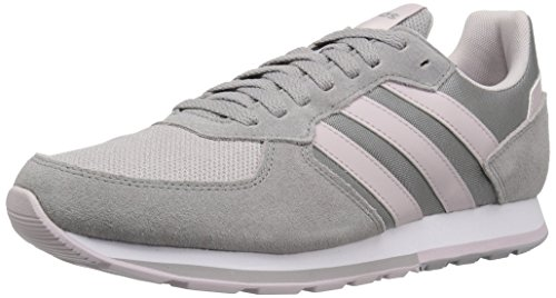 adidas Women's 8K Running Shoe, Light Granite/ice Purple/Light Granite, 7.5 M US