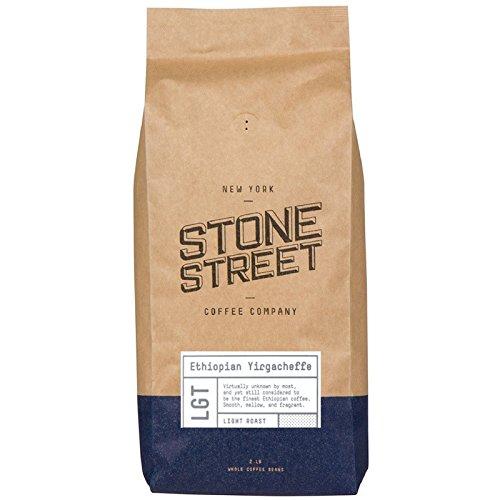 Stone Street Coffee Ethiopian Yirgacheffe Fresh Roasted Coffee, 2 lb Whole Bean, Light Roast