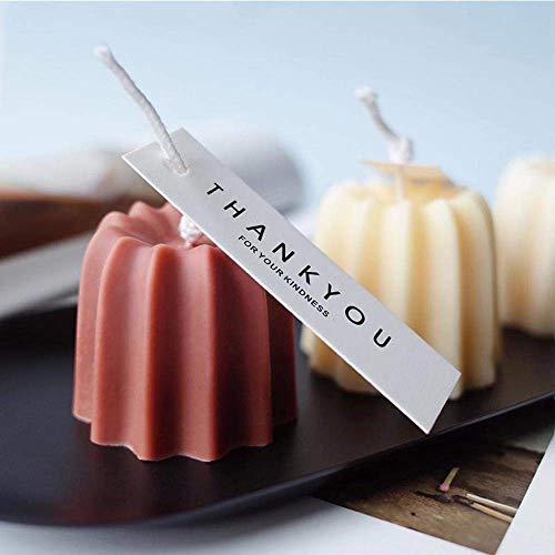 AMITD 2 stuks siliconen kaarsen maken vormen DIY handgemaakte kaars productie Soja was cirkel kaarsen kit accessoires