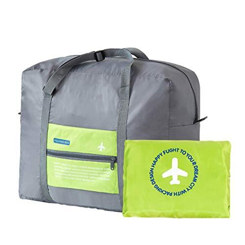Beloved Borsa, borsone ripiegabile - bagaglio a mano - impermeabile - con tracolla - salvaspazio - sport e palestra (Verde)