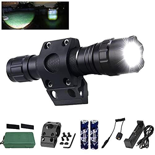Linterna MLOK con Zoomable VASTFIRE Modo Único de Luz de Proyector con Ajuste Compatible con Protectores de Manos MaGPUL con Tornillos y Soportes Interruptor a Presión (Linterna MLOK)