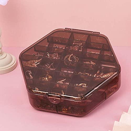 LANL Transparente Kunststoff-Aufbewahrungsbox für Kinder, für den Schreibtisch, Kosmetik, Schmuck, Maniküre, doppelte Aufbewahrungsbox, Valentinstag für Frauen