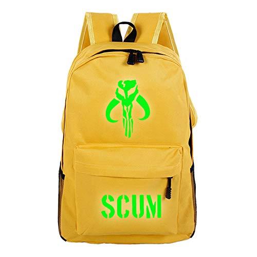 Scum Rucksack mit Spieldruck, leicht, einfaches Design, für Jungen und Mädchen A07 32 X 16 X 46cm