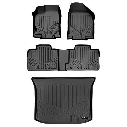 SMARTLINER Custom Fit Floor Mats 2 Rows and Cargo Liner Set Black for 2011-2014...