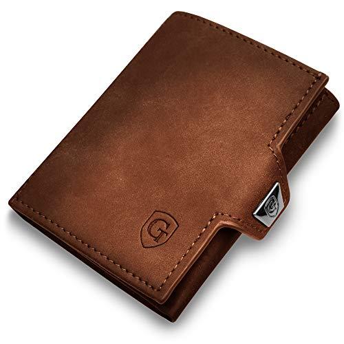 GenTo SMARTLET - Slim Wallet - kleine und smarte Geldbörse mit und ohne Münzfach - Mini Geldbeutel mit RFID Schutz - dünnes Kartenetui für Herren und Damen - schmales Portmonee - smart Wallet