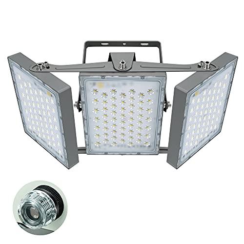 STASUN LED Außenstrahler mit Dämmerungssensor, 300W LED Flutlicht, 27000 Lumen, Superhell LED Fluter, IP66 Wasserfest, 5000 K Tageslicht,mit 3 verstellbaren Köpfen für Garten, Garage
