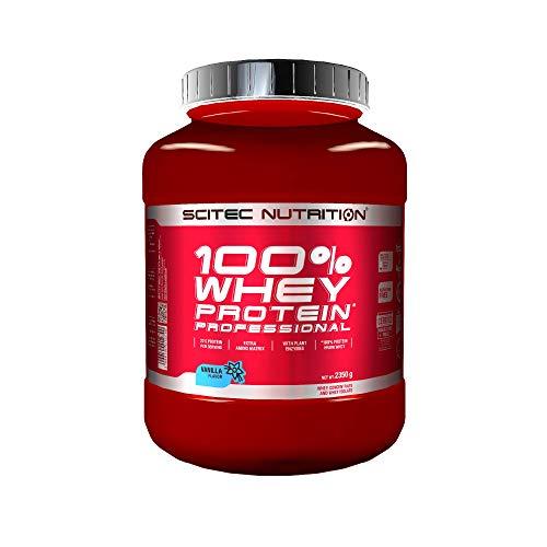 Scitec Nutrition 100% Whey Protein Professional mit extra zusätzlichen Aminosäuren und Verdauungsenzymen, 2.35 kg, Vanille