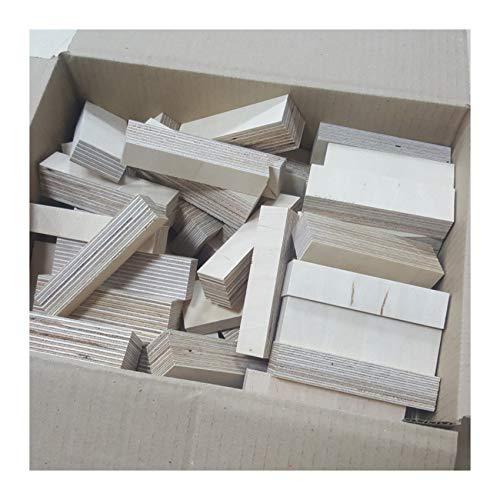 Preisvergleich Produktbild AUPROTEC Natur Holz-Bausteine Birke Länge 100mm Breite 10-30mm Stärken gemischt 18-30mm Multiplex Sperrholz Profiqualität auch als Kreativ Spiel + Bastelhölzer Holz-Bauklötze