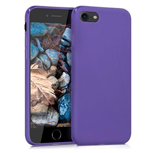 kwmobile Cover Compatibile con Apple iPhone 7/8 / SE (2020) - Custodia in Silicone TPU - Backcover Protezione Posteriore- Viola Matt