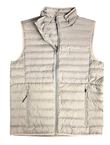 Columbia Men's MoKay Lake Lightweight Down Vest, Silver Grey, X-Large