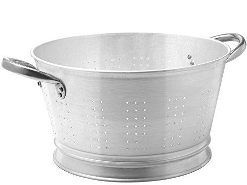 PARDINI 3350 Colapasta Alluminio Conico Utensili da Cucina, Metallo, Grigio, 7x7x24 cm