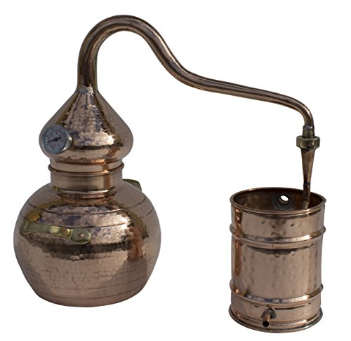 5L Premium Soldered Copper Alembic Still: For Whiskey, Moonshine, Spirits, Etc.