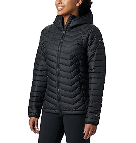 Columbia Womens Powder Lite Hooded Jacket, Black, Small